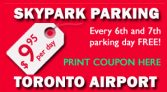 Toronto Pearson Airport Parking Coupon