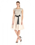 S.L. Fashions womens Lace Top Tulle Party Dress