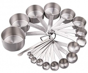 Smithcraft Stainless Steel Measuring Cups and Spoons Set
