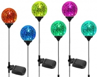 6-Pack of OxyLED Solar Globe Color-Changing LED Garden Lights