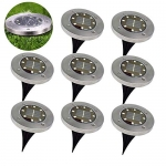 8 LED Waterproof Solar Ground Lights