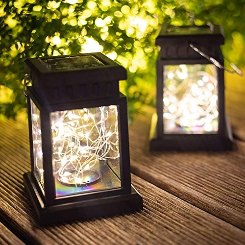 Solar Lights Outdoor Lantern Decorative – Warm White
