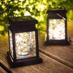 Solar Lights Outdoor Lantern Decorative – Warm White
