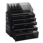 SONGMICS Large Acrylic Makeup Organizer