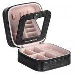 SONGMICS Travel Jewelry Case Mini Box with Mirror
