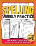Spelling Weekly Practice for 1st 2nd Grades Activity Workbook