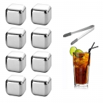 Stainless Steel Ice Cubes, 8 PCS