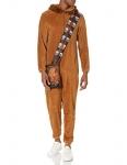 STAR WARS Mens One Piece Hooded Pajama Pajama Set