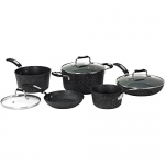 Starfrit The Rock 8 Piece Forged Aluminum Cookware Set with Bakelite Handle