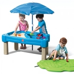 Step2 Cascading Cove Sand and Water Table with Umbrella