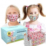 Premium 3-Ply Non-Medical Kids Disposable Face Mask (50 Pack), Strawberry & Donuts