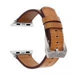 SUNKONG Compatible Apple Genuine Leather Watch Band