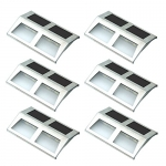 Sunnydaze Decor Stainless Steel Solar Security Mounted LED Lights