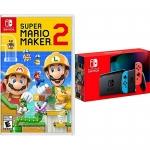 Super Mario Maker 2 + Nintendo Switch Neon Bundle