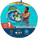 SwimWays Baby Spring Float Activity Center with Adjustable Canopy, Green Octopus