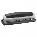 Swingline Precision Pro Desktop 2 or 3 Hole Punch, 10 Sheet Capacity, Black and Silver