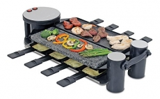 Swissmar Swivel 8-Person Raclette with Cast Aluminum and Granite Stone Grill Top