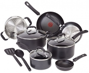 T-fal Professional Total Nonstick Thermo-Spot Heat Indicator Induction Base Cookware Set, 12-Piece