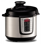 T-fal 25-all-in-1 Multicooker Programmable Electric Fast Pressure Cooker, 1100-Watts, 6-Quart, Stainless Steel