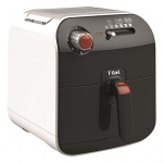T-fal Fry Delight Air Fryer-Mechanical Control, Black and White