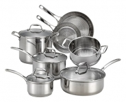 T-fal Performa X Stainless Steel Dishwasher Safe Oven Safe Cookware Set, 11-Piece