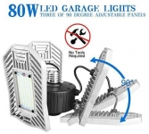 Tanbaby Garage Light 80W LED, 8000lm