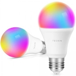 TECKIN Smart LED Bulb WiFi E27 Dimmable Multicolor Light Bulb (2 Pack)