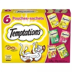 Temptations Treats for Cats – Beef – Chicken – Seafood – Mix-Ups – 85g (6 Pack)
