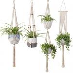 TIMEYARD Macrame Plant Hangers, Set of 4