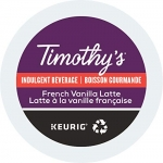 Timothy's French Vanilla Latte Single Serve K-Cup, 24 Count