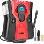 Oasser Portable Tire Inflator with 120W Detachable Digital Pressure Gauge
