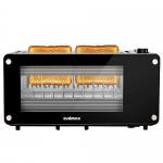 CUSIMAX Long Slot 2 Slice Toaster with Glass Window