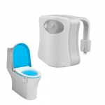 Toilet Night Light, Motion Activated Water Resistant Bathroom LED Toilet Bowl Night Light 8 Colors Changing with Motion Detection