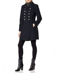 Tommy Hilfiger Womens Wool Blend Military Button Coat