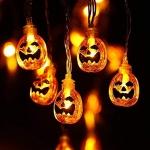Toodour Halloween Pumpkin Lights – 2 Packs of 30 LED