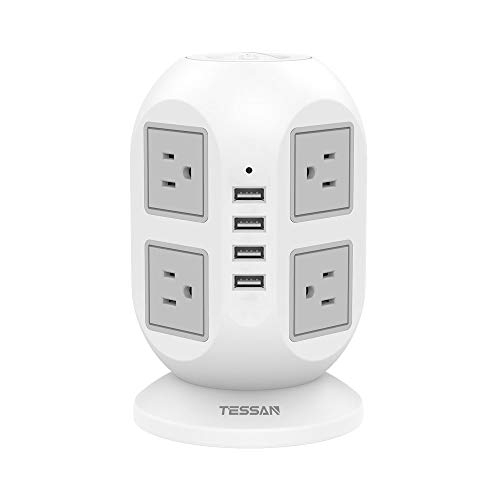 Tower Power Bar with Surge Protector