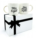 Mr Right and Mrs Always Right Coffee Mugs Gift Set