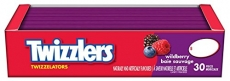 TWIZZLERS Licorice Candy, Wildberry Twizzelators, 30 Count