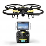 U818A Wifi FPV Drone with Altitude Hold and HD Camera – Black – Bonus VR Headset