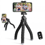 UBeesize Portable and Flexible Tripod with Wireless Remote and Universal Clip