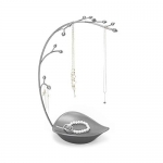 Umbra Orchid Jewelry Organizer and Necklace Holder with Built-In Dish