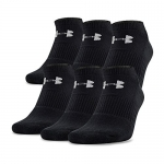 Under Armour Men's Charged Cotton No Show Socks (Pack of 6)