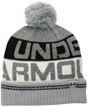 Under Armour Men's Retro Pom 2.0 Beanie, Overcast Gray (941)/Black, One Size