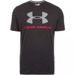 Under Armour Men's Sportstyle Logo T-Shirt,Black/Steel, X-Large