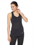 Under Armour Women's Streaker Tank, Black/Reflective, Medium