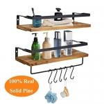 UniForU Wood Floating Shelves 4 in 1 Mounted Storage Shelves