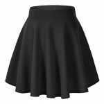Urban CoCo Women's Basic Flared Casual Mini Skate Skirt