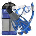 U.S. Divers Adult Mask & Snorkel, Proflex Fins with Gearbag