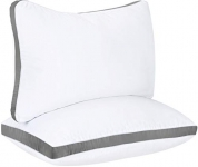 Utopia Bedding Gusseted Pillow (2-Pack) – Queen