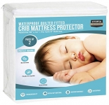 Utopia Bedding Waterproof Hypoallergenic Quilted Crib Mattress Protector (2 Pack) (White)
